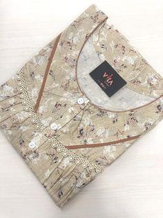 Cotton Kurties, Cotton Nighties, Ladies Nightwear, Night Gown Dress, Sewing Collars, Lehenga Saree Design, Nightgown Pattern, Kalamkari Saree, Baby Frocks Designs
