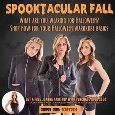 Spooktacular Fall promotion for October 2014.  #promotion #fashion #falllooks #fitness #blackbeauty