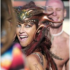 Burning Man costume headpiece.  I'd love to know who made this!