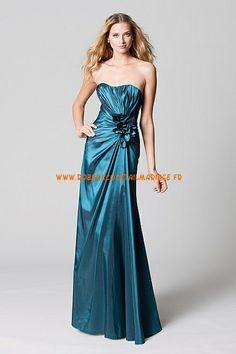 Robe pas cher 2013 bustier simple robe de soirée satin stretch