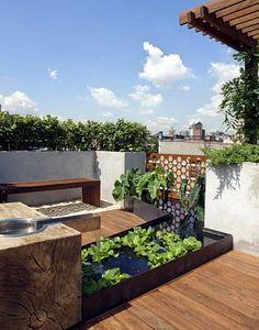 a really nice balcony garden