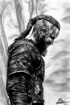 how to draw ragnar lothbrok from vikings step 19