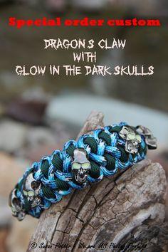 Custom made Dragon's Claw w/ Glowing Eyes Skull