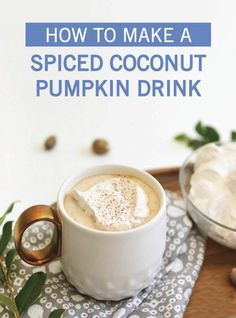 Warm yourself up from the inside out with this Hot Spiced Coconut Pumpkin Drink. Coconut milk, ginger, clove, nutmeg, cinnamon, vanilla, maple syrup, and pumpkin puree come together to create this delicious fall drink. Top with homemade whipped cream before serving. Click here to see the full easy recipe from Inspired Gathering.