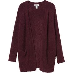 Monki Bibi knitted cardigan (76 BRL) ❤ liked on Polyvore featuring tops, cardigans, outerwear, jackets, magical merlot, cardigan top, monki, purple cardigan and purple top