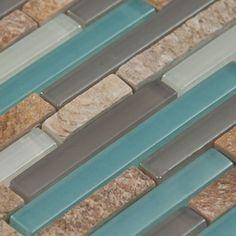Santiago Glass & Stone Mix Tile 8mm.