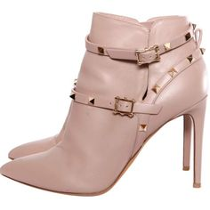 ee30b1a40 Valentino Rockstud Pink Leather Ankle boots Valentino Rockstud