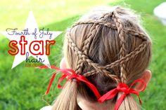 fourth of july STAR hair! - A girl and a glue gun