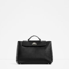 CONTRASTING CITY BAG WITH CORD