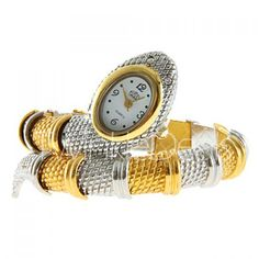 Stylish Snake Patterned Steel Wristwatch Bracelet Watch for Female