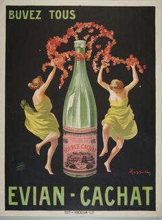 À Évian-les-Bains, la Source Cachat - Buvez tous Evian-Cachat par Cappiello, Leonetto, 1875-1942 Bibliothèque municipale de Lyon