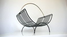 Mid Century Wire and Mesh Magazine Rack Basket by HausProud, $36.00