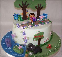 https://flic.kr/p/3autL4   Dora Cake   Buttercream cake with fondant details
