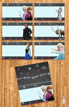 Printable Frozen Food Tents Chalkboard by CoolEtsyPrintables