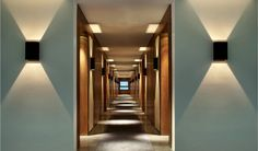 Xian Westin Hotel by Neri and Hu Space Interiors, Hotel Interiors, Colorful Interiors, Hotel Hallway, Hotel Corridor, Corridor Lighting, Interior Lighting, Commercial Design, Commercial Interiors