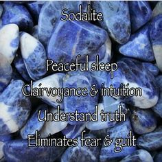 Sodalite brings inner peace. Keep sodalite in your pockets and in every room of your house. Sodalite is the stone of athletics, as it stimulates endurance. It is said sodalite will harmonize the inner being or the conscious and subconscious mind. Sodalite promotes peace and harmony. Sodalite is extra lucky for writers. Wear it when you want to lose a few pounds. It helps in communicating and will give confidence to speak more.