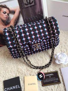Chanel autumn & winter shoulder bag 25cm silk fabric