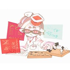 Official illustrations for next JP Splatfest. Perfect Body Vs Perfect Mind.