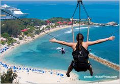 Dragon's Breath Zip Line, Labadee, Haiti. I WILL do this.