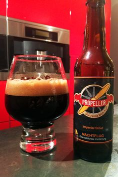 15-Sep-2015: Nachtflug by Propeller Bier of Bad Laasphe, Germany. Dark brown/black color with a brown head. Caramel and cocoa aroma. Chocolate and bitter flavor. Dark malts. It's good. Not great. #ottbeerdiary