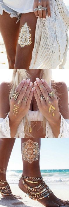 207 Best Metallic Temporary Tattoos Images In 2018 Arm
