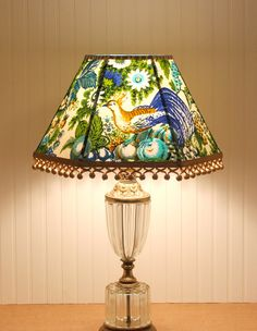 Hey, I found this really awesome Etsy listing at https://www.etsy.com/listing/167822695/blue-lamp-shade-vintage-lampshades-blue
