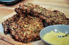 Μπριζόλες χοιρινες με κρούστα μυρωδικων- Πετρετζικης Yummy Recipes, Yummy Food, Grilling, Pork, Herbs, Beef, Cooking, Desserts, Kale Stir Fry