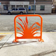 Hey Bike Rack designed by Meg Thompson for Laramie Main Street Alliance. #megthompsonstudios #downtownlaramie