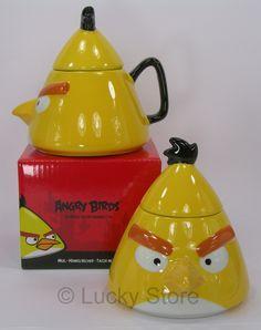 Angry Birds Yellow Giallo tazza da the con coperchio - Lucky Store -