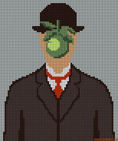 The Son of Man - Le fils de l'homme René Magritte perler bead pattern