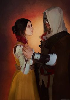 Ezio and Cristina cosplay by BougainvilleaGlabra on DeviantArt Creed Quotes, Video Game Cosplay, Last Dance, Assassin's Creed, Unity, Gaming, Fandom, Romance, Photoshop