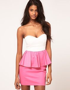 Rare Peplum Bandeau Dress- This style of dress is rapidly growing on me...