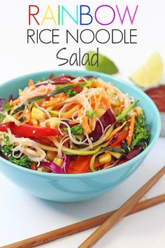 A delicious and healthy family meal packed full of nutritious rainbow veggies and glass rice noodles | My Fussy Eater blog