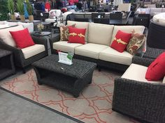 Summer Classics Private Label - Metro Twist 6pc Sofa seating. Includes: Sofa, Lounge Chair, Swivel Lounge, Coffee table and 2 end tables.