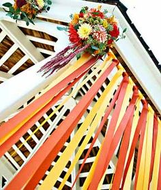 gazebo ribbon wall, is a great way to add color!