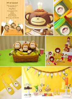 planning a monkey themed party | monkey theme party ideas Go Bananas! Monkey Birthday Party Inspiration