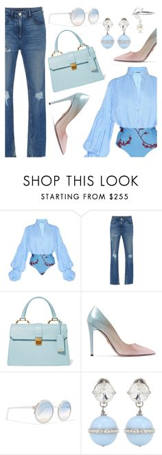 """""""Outfit of the Day"""" by dressedbyrose ❤ liked on Polyvore featuring Johanna Ortiz, 3x1, Miu Miu, Prada, Sunday Somewhere, ootd and polyvoreeditorial"""