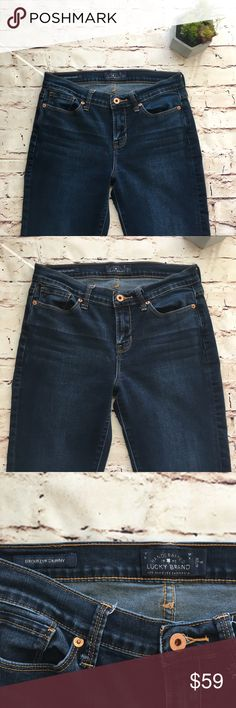 "Lucky Brand | dark wash skinny jeans Lucky Brand Brooklyn Skinny Jeans in a medium to dark wash. Inseam 31"". In excellent condition! Feel free to ask questions or make an offer! Bundle for a discount! 0129::269 Lucky Brand Jeans Skinny"