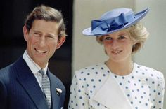 Prince Charles with his wife Princess Diana in front of Lodge Canberra, Australia, on Nov. 7, 1985.