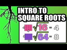 This is a good introduction to the yr 7 class. It's engaging, funny, colorful and easy to understand. Since it is a video, students can go back and watch it over and over again if they want. It shows the foundations of square roots and perfect squares. Math 8, Math Tutor, Teaching Math, Math Teacher, What Is Common Core, Common Core Math, Math Charts, Square Roots, Math Manipulatives