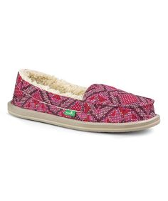 Loving this Hot Pink Geometric I Can't Quilt You Moccasin - Women on #zulily! #zulilyfinds