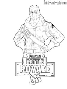 Fortnite Battle Royale Coloring Page Ninja Female Skin Outfit
