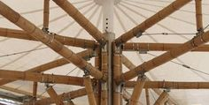Magnificent pop up gazebo Bamboo Roof, Bamboo Art, Bamboo House, Bamboo Building, Bamboo Structure, Bamboo Construction, Bamboo Architecture, Rattan, Canopy