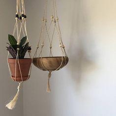 jute macrame plant hanger | macrame plant hanger plant holder hanging plant holder hanging planter macrame hanger woven plant hanger by madstonandco