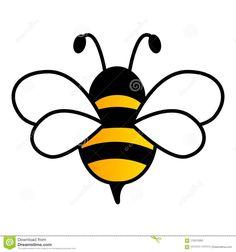 Bee Drawing Easy, Easy Drawings, Bee Sketch, 7 Arts, Black Bee, Yellow Black, Bee Painting, Bee Images, Bee Embroidery