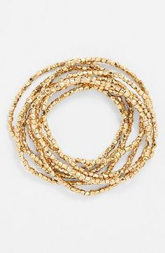 Glitzy gold beaded bracelet