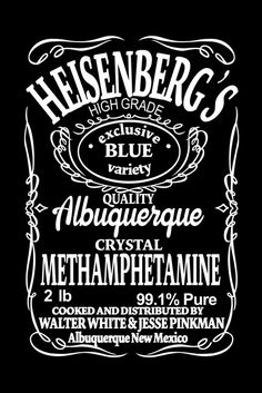 Heisenberg - Blue Label Walter White, Breaking Bad Series, Braking Bad, Bad Logos, Pop Art Decor, Albuquerque News, Greys Anatomy Memes, Bad Tattoos, Dope Wallpapers