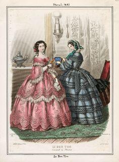 Le Bon Ton, March 1857. LAPL Visual Collections.