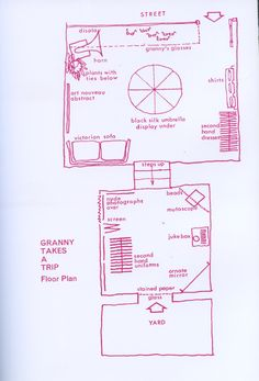 Plan of the interior of Granny's in London Magazine, October 1966