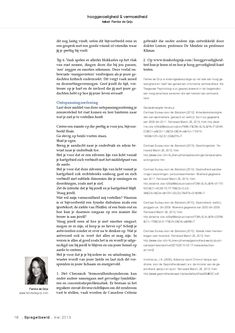 Spiegelbeeld Magazine, hooggevoeligheid en vermoeidheid, Femke de Grijs, blz. 5